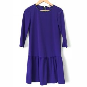 Cremieux Purple Drop Waist Dress